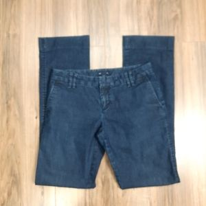 """Gap """"Outlet"""" Dark Rinse Flat Front Trouser Jeans"""